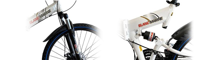 vélos pliants cadre suspendue Blancmarine